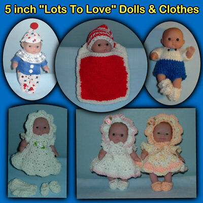 """5"""" DOLL & CLOTHES, inc """"Lots to Love"""" BERENGUER, Handmade by the Crafty Grandmas"""