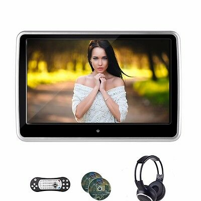 """10.1 """" DVD Player Car Headrest Monitor Support USB/SD/IR/FM TFT LCD Touch"""