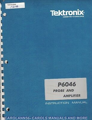 TEKTRONIX Manual P6046 PROBE AND AMPLIFIER book only