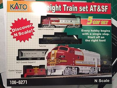 Kato 106-6271 f7 freight *ATSF red bonnet* >> OPTIONS AVALIBLE  M-1 TRAC ,DCC, ?