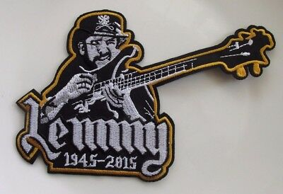 Motorhead Lemmy 1945-2015 Shaped Embroidered Patch Sew Or Iron On  New Tribute