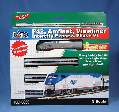 Kato 106-6285  N Scale Amtrak Ph.vi Starter Set, Many Options/dcc/track?