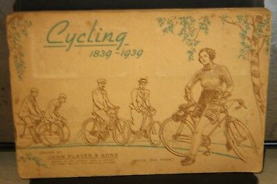 "1939 - ""Cycling"" full set of 50 cards in the original 1939 Players album."