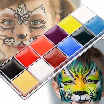 Professional Face Paint, 12 Colors Face Painting Kit for Kids Crafts, Non-Toxic