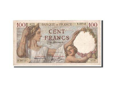 [#350286] France, 100 Francs, 100 F 1939-1942 ''Sully'', 1942, KM #94