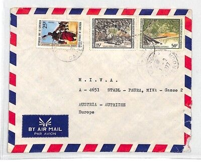 CA249 1977 Cameroon EAA EXPRESS Airmail Cover MISSIONARY VEHICLES PTS