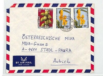 CA248 1977 Cameroon *Tivogo* Airmail Cover FLOWERS FRUIT MISSIONARY VEHICLES
