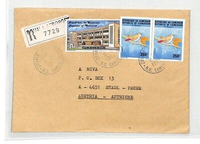CA245 1993 Cameroon DOUALA AEROPORT Registered Airmail Cover MISSIONARY VEHICLES