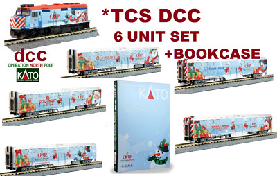 Kato 106-2016+Dcc + 2016A Operation North Pole *tcs Dcc *6 Pc  Set+Bookcase***