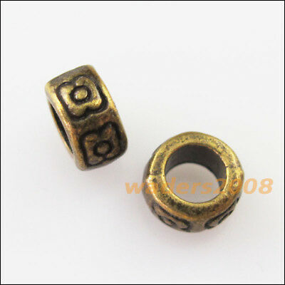 60PCS  Antiqued copper crafted nugget spacer beads FC162