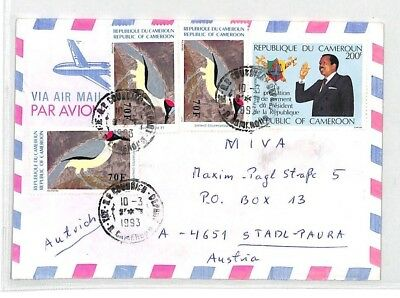 CA240 1993 Cameroon EAA EXPRESS Airmail Cover MISSIONARY VEHICLES PTS