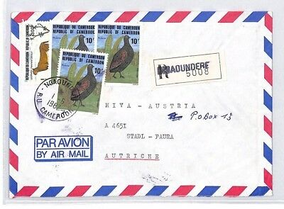 CA159 1987 Cameroon PETIT SEMINAIRE *Ngaoundere* Registered Air Cover MISSIONARY
