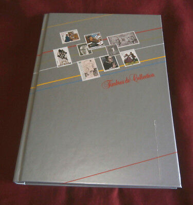 Timbres De Collection Stamp Album With Approx 300 Mostly Modern European Stamps.