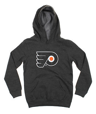 Reebok NHL Youth Philadelphia Flyers Primary Logo Charcoal Pullover Hoodie