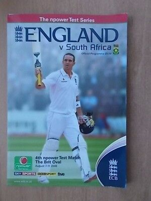 ENGLAND v SOUTH AFRICA 2008 CRICKET PROGRAMME - FOURTH TEST MATCH - THE OVAL