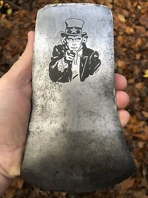 I Want You Axe Hand Engraved Logo embossed