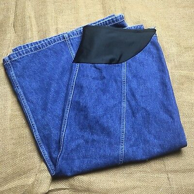 NORTON Studio Womens Denim Jean Skirt Sz 14P Long Modest A Line Maternity
