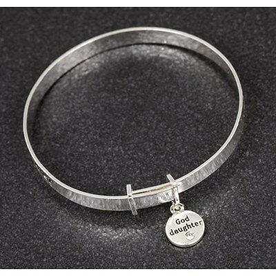 bracelet Equilibrium Silver Plated god daughter Christening  Bangle gift baby