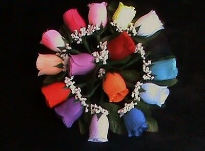 Boutonniere Corsage Groom Groomsmen Prom Wedding Party Silk Rose Bud