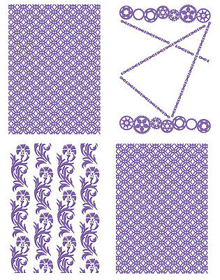"1 COUTURE CREATIONS Prägeschablone EMBOSSING FOLDER /""The Mikashet Collection/"" B6"