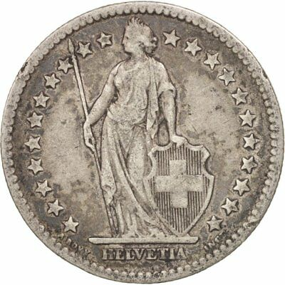 [#406583] Switzerland, 2 Francs, 1878, Bern, VF(30-35), Silver, KM:21