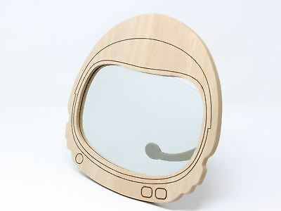 Wooden Space Helmet Astronaut Children's Wall Mirror Nursery 22m
