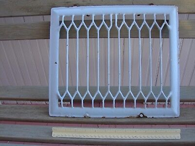 "1901 Heater Grate, Heavy Metal, 12.5"" x 14.5"" x 1.5""  Vintage Painted"