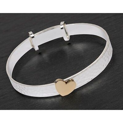 bracelet Equilibrium Silver Plated heart Christening  Bangle gift baby