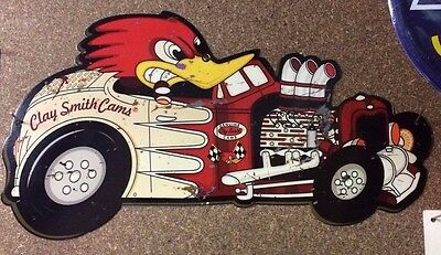 Clay Smith Cams Mr Horsepower Die Cut Tin Metal Sign Hot Rod Ford Chev Rat Rod