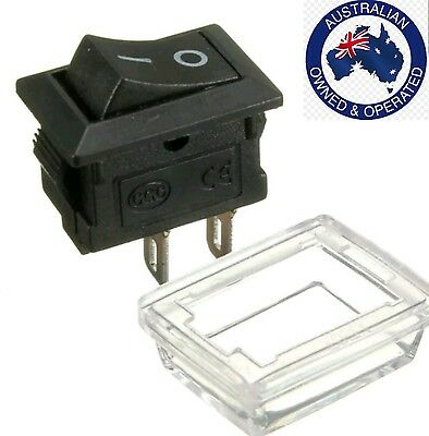 1 x  2pin On/Off Rectangle Waterproof Rocker Switch+Cover Car Dashboard Boat 1
