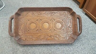 Beautiful Vintage carved serving tray