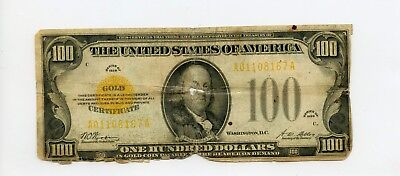 Fr. 2405 1928 $100 Small Size GOLD CERTIFICATE **Rare**