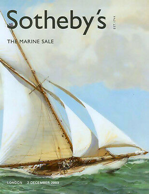 Sothebys ///  Marine Art Sale Schooner European Post Auction Catalog 2003