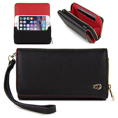 Small Womens Clutch Wrislet Wallet Purse for iPhone and Android Phones