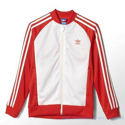 Adidas Originals Boys Infant Superstar Track Top Retro style Red White S14615