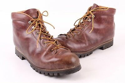 Vtg Vasque Leather Hiking Mountaineering Boots Mens Size 13 N