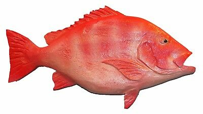 Chainsaw Carving Red Snapper Carved Reef Snorkel Surf Dive Aquarium Art 17294