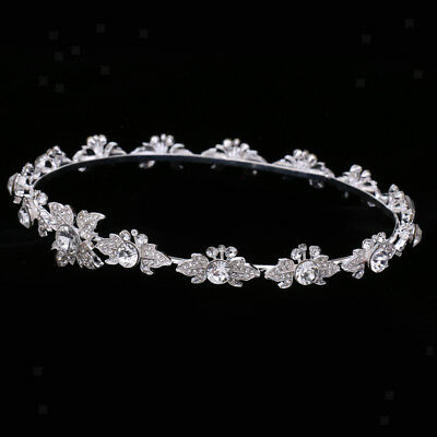 Stuning Bridal Crystal Flower Tiara Crown Headdress Headband Hair Accessory