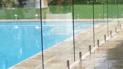 12mm, frameless glass, pool fencing From $133 Per Meter Inc Glass And Spigots