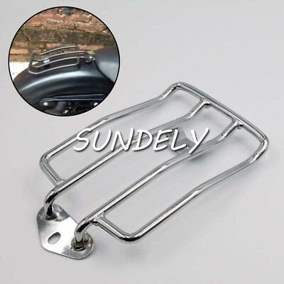 """Hot 6"""" Chrome REAR SOLO LUGGAGE RACK FOR Harley Davidson Sportster XL883 1200."""