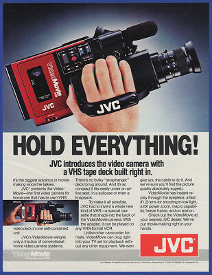 Or. 1984 JVC Videomovie VHS Video Camera Back To The Future Marty McFly Print Ad
