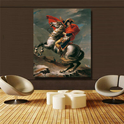 Napoleon across the Alps HD print on canvas huge wall picture 32x38""