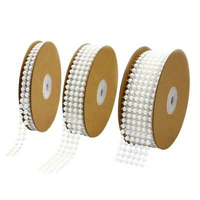 5 yds Pearl Beads String Ribbon Wedding Table Decoration Sewing Trim Cake Crafts