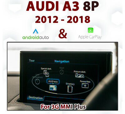 AUDI A3 8V Series Factory 3G MMi Apple CarPlay Retrofit Kit for 2012