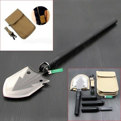 AU Outdoor Black Multi-function Folding Shovel Engineer Tool For Camping Hiking