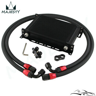 25 Row AN10 Oil Cooler Kit For BMW E36 E46 E82 E90 E92 E93 Black