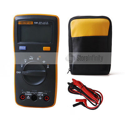 Fluke 106 Handheld Digital Easily Carried mini Multimeter+ Soft Carrying Case