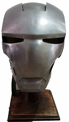 Full size carbon steel iron man helmet with stand avengers marvel
