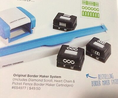 Creative Memories Border Making System-3 Cartridges Included