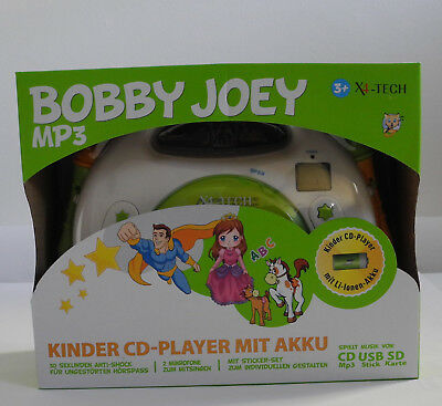 x4 tech kinder cd player bobby joey mp3 mit akku und. Black Bedroom Furniture Sets. Home Design Ideas
